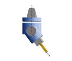 HPC-LiTo-ATi-Ro-1: Gewinkelte Anordnung, einstellbarer Winkel, schwenkbar um Y-Achse, drehbar um Z-Achse, Abtrieb einfach