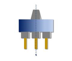 HPC-LiTo-SP-n-l; HPC-LiTo-SP-n-m: Gerade Anordnung, in Achse, symmetrisch; Abtrieb mehrfach (= n); Linie oder Matrix