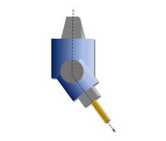 HPC-LiTo-ATi-1: Gewinkelte Anordnung, einstellbarer Winkel, schwenkbar um Y-Achse, Abtrieb einfach
