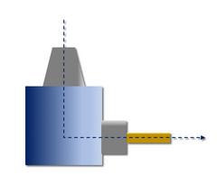 HPC-LiTo-A: Gewinkelte Anordnung, 90 Grad, Abtrieb einfach