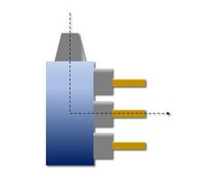 HPC-LiTo-A-n-h, HPC-LiTo-A-n-v, HPC-LiTo-A-n-m: Gewinkelte Anordnung, 90 Grad, Abtrieb mehrfach