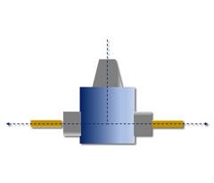 HPC-LiTo-AP2: Gewinkelte Anordnung, 90 Grad, Abtrieb beidseitig (n = 2), Zweispindler