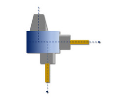 HPC-LiTo-SZ-P2-A: Gerade Anordnung und mit 90 Grad-Winkel, Abtrieb doppelt
