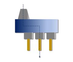 HPC-LiTo-SPZ-n-l, HPC-LiTo-SPZ-n-m: Gerade Anordnung, achsversetzt, Abtrieb mehrfach (= n), Linie oder Matrix